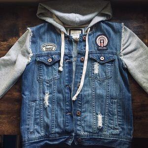 Forever 21 Denim Sweater Jacket
